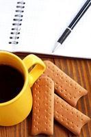 kaffepaus på jobbet foto