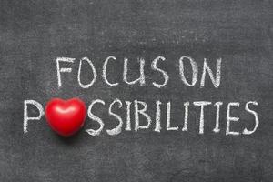 fokusera på möjligheter foto