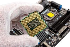 elektronisk samling - datorprocessor foto