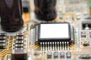 datormikrochipsets kretskort foto