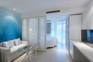 interiör i moderna sovrum foto