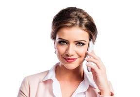attraktiv ung affärskvinna foto