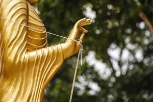 hand av buddha foto