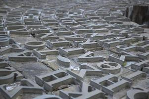 metall grekiska bokstäver foto