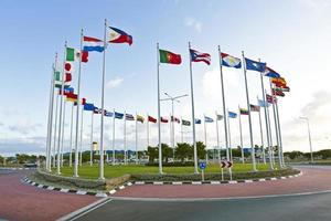 flaggor från världen foto