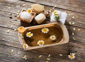 aromaterapi spa-uppsättning av kamomill foto