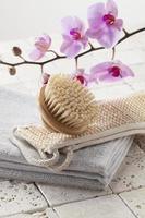 zen stilleben för skönhet spa och hudföryngring foto