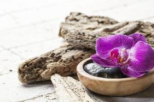 naturliga element för skönhets spa och massage foto
