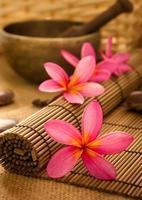 Balinese spa inställning. foto