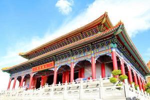 traditionell kinesisk stil tempel på wat leng-noei-yi foto