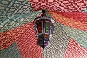 traditionell marockansk lampa foto