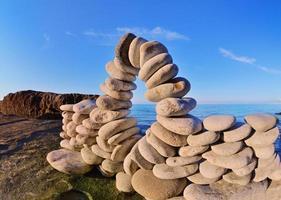böjning av stenar foto