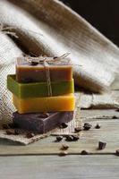 tvål med lavendelschoklad ener och kaffebönor
