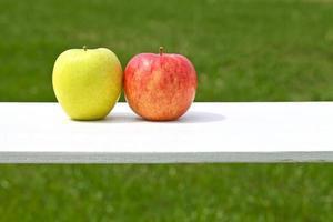 äpplen, par, foto