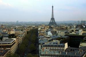 paris skyline foto