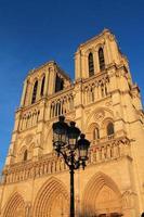 fasad av Notre Dame de Paris foto