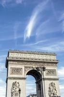 arc de triomphei in paris foto
