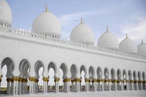 cupolas av sheik zayed moskén abu dhabi foto