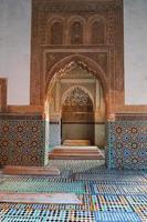 saadiska graven mausoleum i Marrakech foto