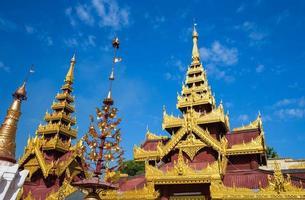 toppen av pagoden, bagan, myanmar foto