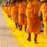 munkar i Thailand foto