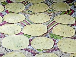 torkning av papadams