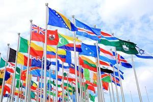 världens nationella flaggor foto