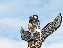 nordamerikansk totempol foto