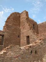 pueblo ruiner - chaco, nya mexico foto
