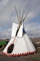 infödda amerikanska teepeee foto