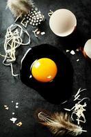 råa ägg foto