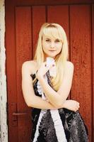 blont hår ung flicka foto