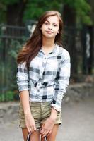 vacker tonårsflicka foto