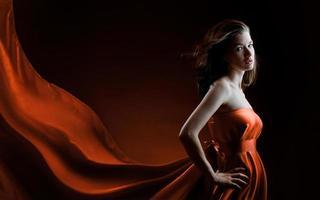 lång klänning foto