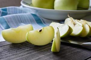grupp äpplen foto