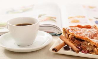 morgon kaffe paus foto