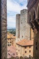 torn i gamla stan san giminiano, Toscana, Italien