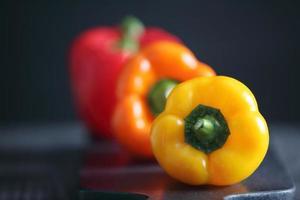 röd paprika display foto