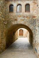 medeltida gränd av kamrater foto