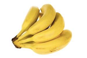massa bananer isolerad på vit bakgrund foto