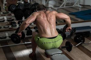 rygg övning foto