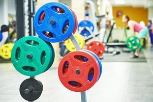 fitness viktutrustning för träning foto