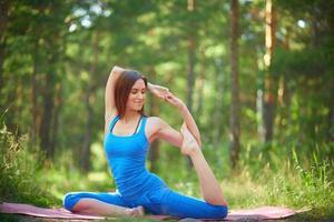 stretchingövning foto