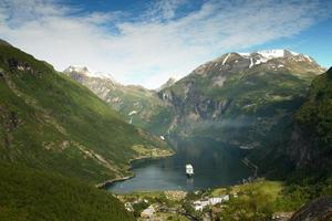 norra norska fjordar. foto