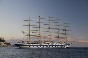 tall ship, dubrovnik - croatia foto