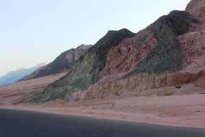 röda hav bergen foto