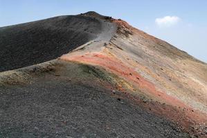 vulkan från mount etna på Sicilien