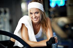 fitness på ett löpband foto