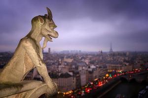gargoyle of the Notre-Dame Cathedral, Paris foto