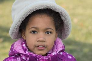 afroamerikansk flicka foto
